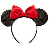 Sequined Minnie Mouse Ears Headband | Disney Store