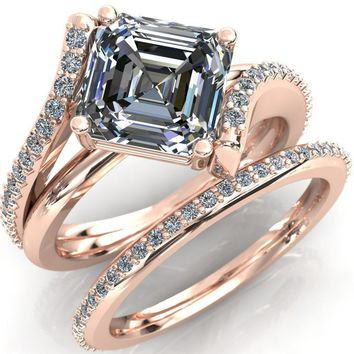 Margot Asscher Moissanite Diamond Channel Ring