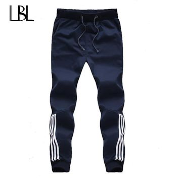 Mens Joggers Striped Pants Gym Activewear