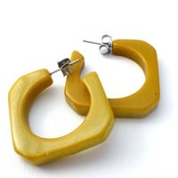Bakelite Hoops Earrings Vintage Hoops