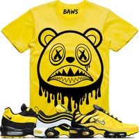 BAWS DRIP Sneaker Tees Shirt to Match - Nike Air Max Frequency Pack Bumble Bee