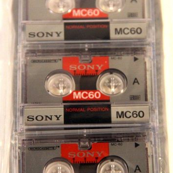 VINTAGE MICROCASSETTE TAPE Geek Chic by goodmerchants on Etsy