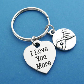I Love You More, Pinky promise, Heart, Keyring, Keychain, Pinky, Promise, Jewelry, Gift, Birthday, Friendship, Graduation, Accessories