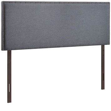 Modern Upholstered, Button Tufted, Nailhead Padded Fabric and Vinyl Headboards