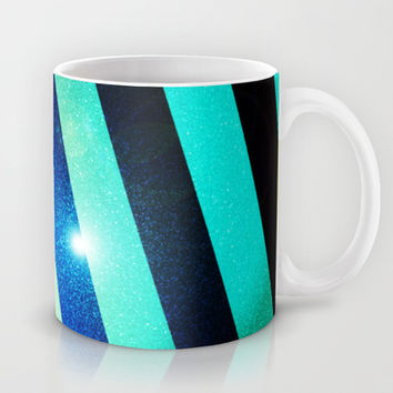Striped Colorful Glitter Mug by Nicklas Gustafsson