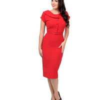 Stop Staring! 1940s Style Red Nellie Wiggle Dress