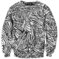 All Over Graffiti Crewneck