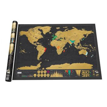 Deluxe Edition Scratch Map Travel Scratch Off Map Personalized Black Journal World Map Foil Layer Coating Poster 82.5x59.4cm L50