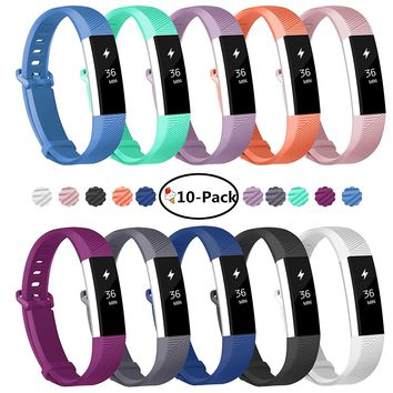 Fundro Fitbit Alta Bands, Soft Silicone Replacement Classic Bands Available in Varied Colors with Secure Buckle for Fitbit Alta HR, Fitbit Alta and Fitbit Ace