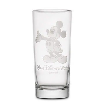 Mickey Mouse Glass Tumbler by Arribas - Personalizable | Disney Store