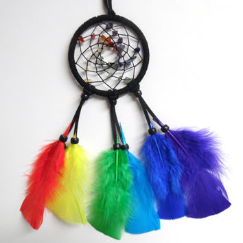 Black Chakra Car Dream Catcher