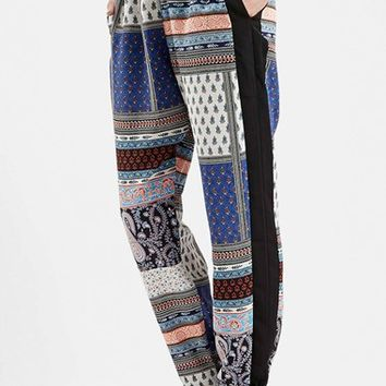 Women's Topshop Patchwork Jogger Pants,
