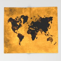 map world map 59 Throw Blanket by jbjart