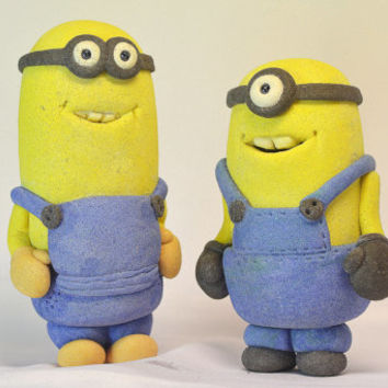 Minion. Souvenir statuette. Made from salt dough. Handmade. FREE SHIPPING!