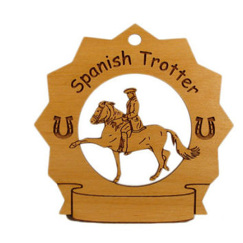 8289 Spanish Trotter Horse Personalized Wood Ornament