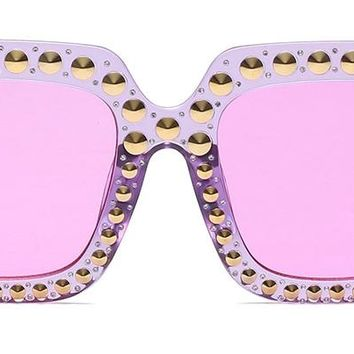 QUOI - Large Studded Jelly Sunglasses