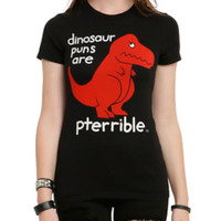 Dino Puns Are Pterrible Girls T-Shirt