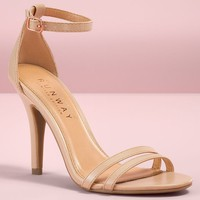 LC Lauren Conrad Runway Collection Ankle Strap Women's High Heels (Pink)
