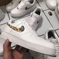 Fashion Online Nike Air Force 1 Bape White For Women Men Running Sport Casual Shoes Sneakers
