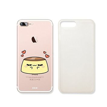 Cute Pudding Slim Iphone 7 Case, Clear Iphone 7 ard Cover Case For Apple Iphone 7 -Emerishop (iphone 7)