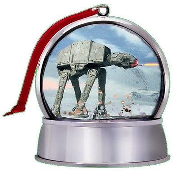 NEW Star Wars Battle Of Hoth At-At SnowGlobe Magnet Holiday Tree Ornament