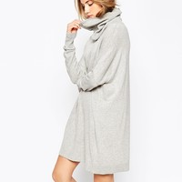ASOS Knit Dress With Zip Detail In Cashmere Mix
