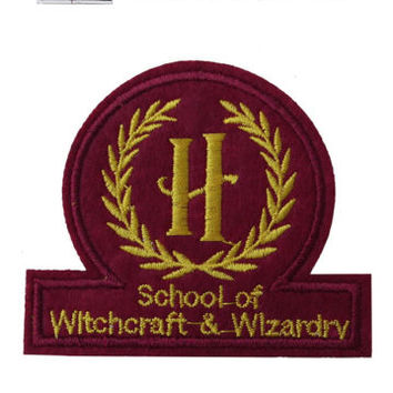 School of Witchcraft wizardry Iron/Sew On Embroidered Patch Embroidery Hogwarts | eBay