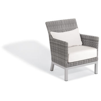 Oxford Garden Argento Club Chair With Lumbar Pillow Argento Resin Wicker Powder