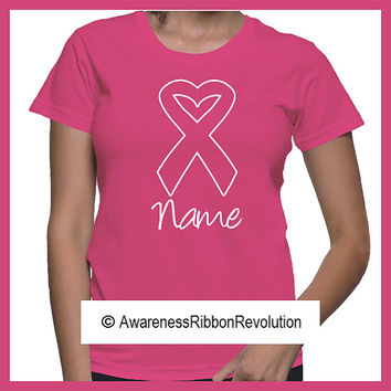 Personalize Breast Cancer Heart Shirt