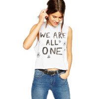 WE ARE ALL ONE White Tank Top