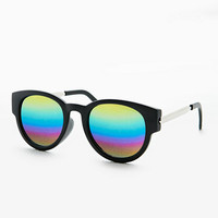 Preppy Sunglasses in Black with Revo Lenses - Urban Outfitters