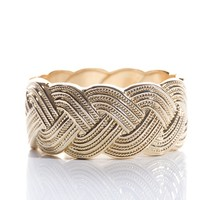 Breathtaking By Design Braided Cuff Bracelet - Gold from Jewelry & Accessories at Lucky 21