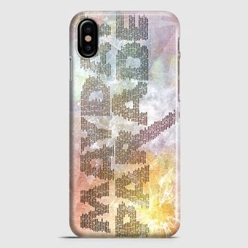 Mayday Parade Typography iPhone X Case