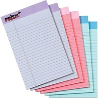 Prism+™ Legal Notepad, Legal Rule, 2 Gray, 2 Orchid, 2 Blue, 50 Sheets/Pad, 6 Pads/Pack, 8-1/2 x 11-3/4 | Staples