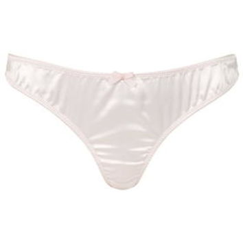 Satin Brazilian Panties - Pale Pink