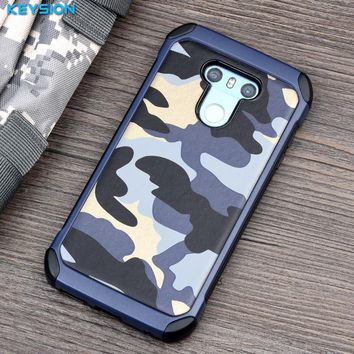 KEYSION Phone Case for LG G6 Army Camo Camouflage Pattern PC+TPU 2 in1 Anti-knock Protective Back Cover for LG G6 H870 H870DS