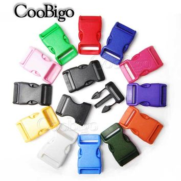 "1"" Side Release Buckle Curved Parachute 550 Cord Paracord Bracelet Outdoor Backpack Strap Dog Collar Webbing Bag Parts Colorful"