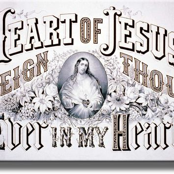 Heart of Jesus Reign Thou Ever in My Heart Picture Made on Acrylic Wall Art Decor Ready to Hang!.