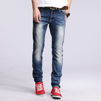 Cotton Men Slim Jeans [6528728515]
