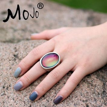 Mojo Vintage Bohemia Retro Color Change Mood Ring Emotion Feeling Changeable Ring Temperature Control Ring for Women MJ-RS024
