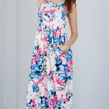 """Too Glam"" Floral Maxi Dress"