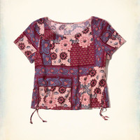 Girls Side-Tie Rayon Top | Girls Clearance | HollisterCo.com