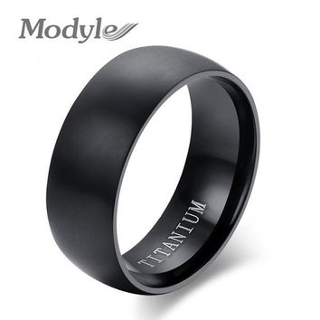 DCCKHY9 2016 New Fashion Men Titanium Ring High Quality black Titanium Wedding Rings for Men and Women
