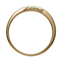 Nora Kogan Loved Side Script Ring | Nordstrom