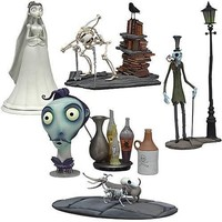 "McFarlane Toys 3"" Corpse Bride Mini Collectors Set - Victoria, Elder Gutenknacht, Zombie Gentleman, Paul the Head Waiter, Scraps and the Wiener Dog"