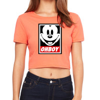Ohboy Mickey Mouse Crop T-Shirt