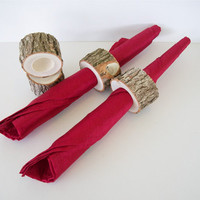 Rustic Wood Napkin Rings Tree Branch by TraditionalByNature