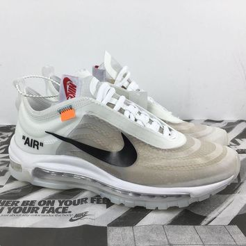 Nike OFF WHITE Air Max 97 Woman Men Fashion Sneakers Sport Shoes