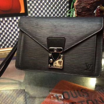 LV Women Leather Office Bag Satchel Shoulder Bag Crossbody