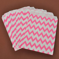 25pc Stripe Treat Biscuit Cake Cookie Bags Wedding Party Candy Favour Paper Food